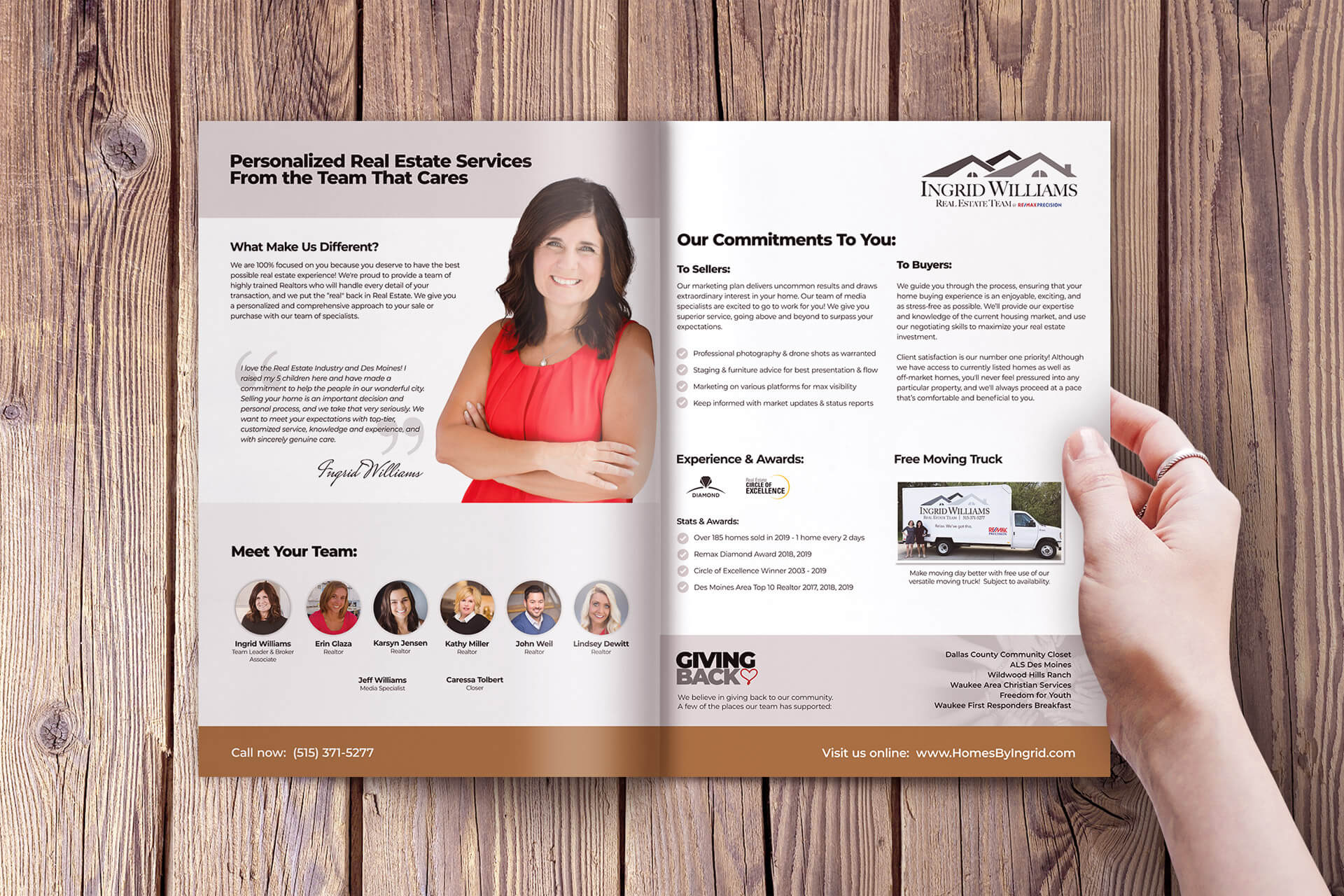Graphic Design - Real Estate Brochure for Ingrid Williams Real Estate Team