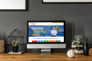 Website Design for Home Servcies Company Des Moines Comfort