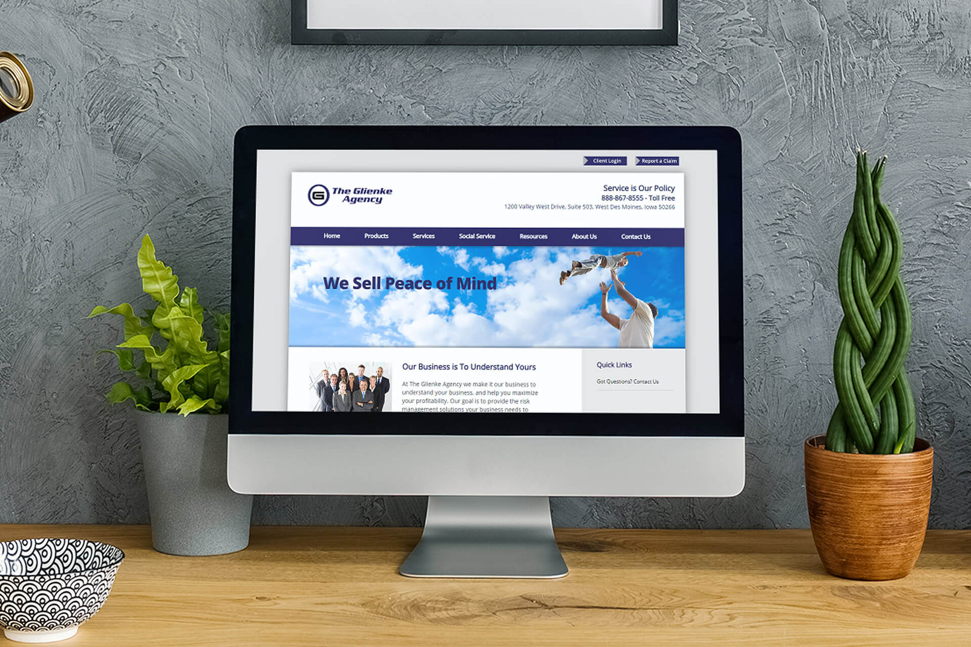 Website Design for Geinke Insurance Agency