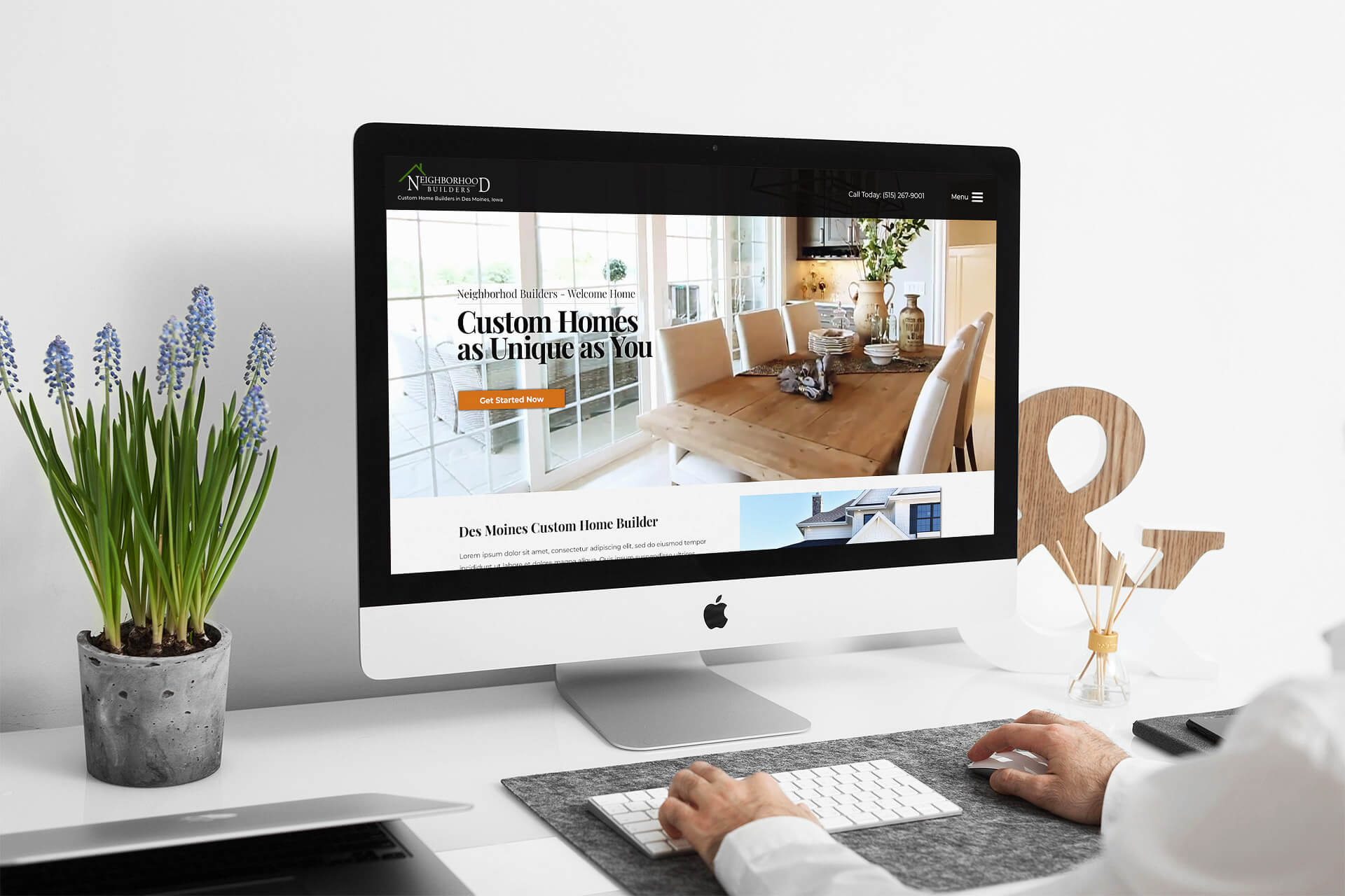 Home Builder Website Design for Neighborhood Builders