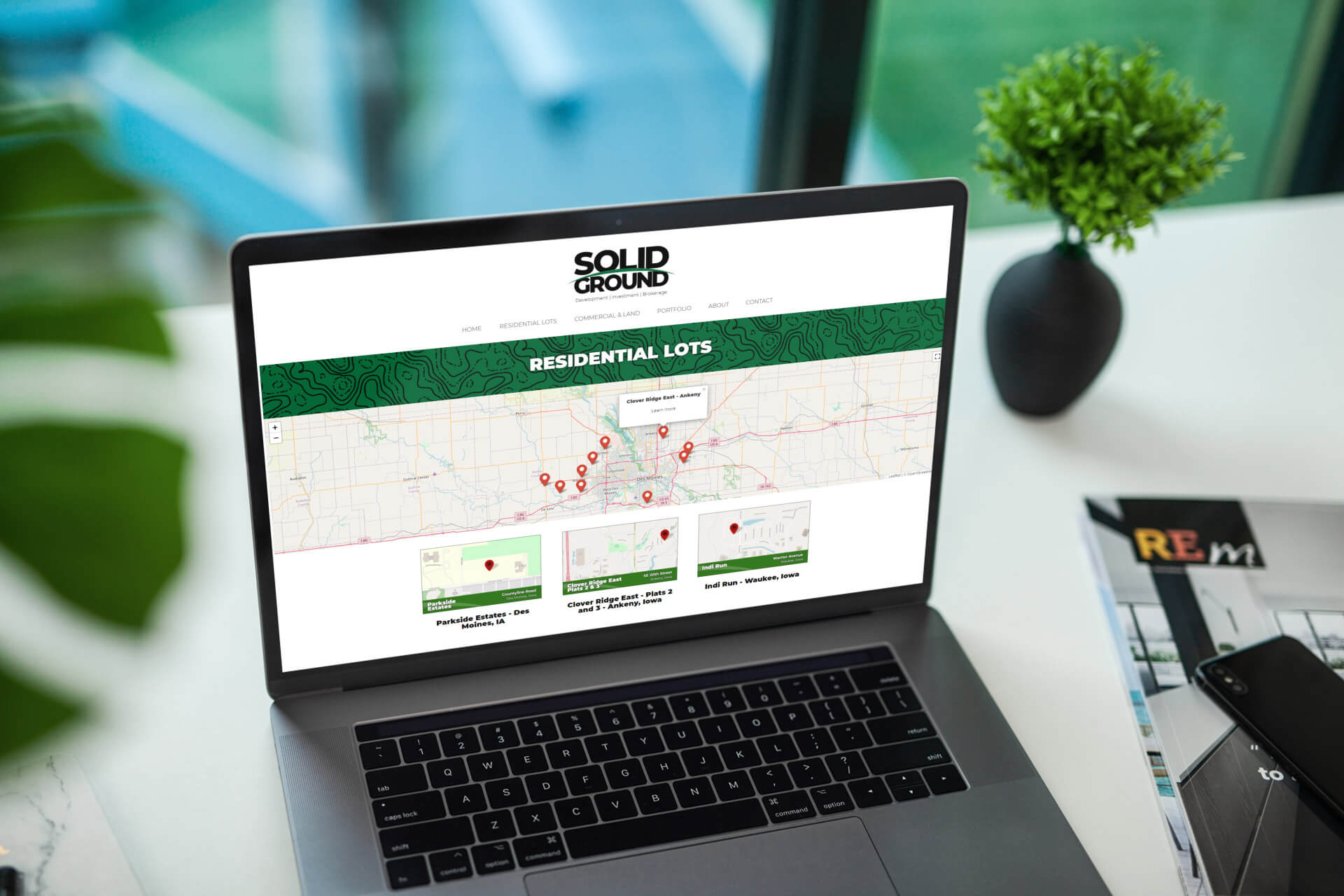 Website Design for Land Development Company, Solid Ground in Des Moines, Iowa